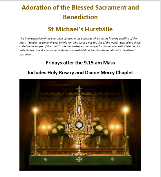 Weekly Adoration and Benediction